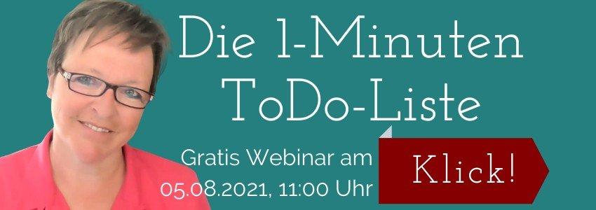 1-Minuten ToDo-Liste Webinar