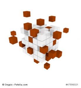 3D Cubes Teamwork