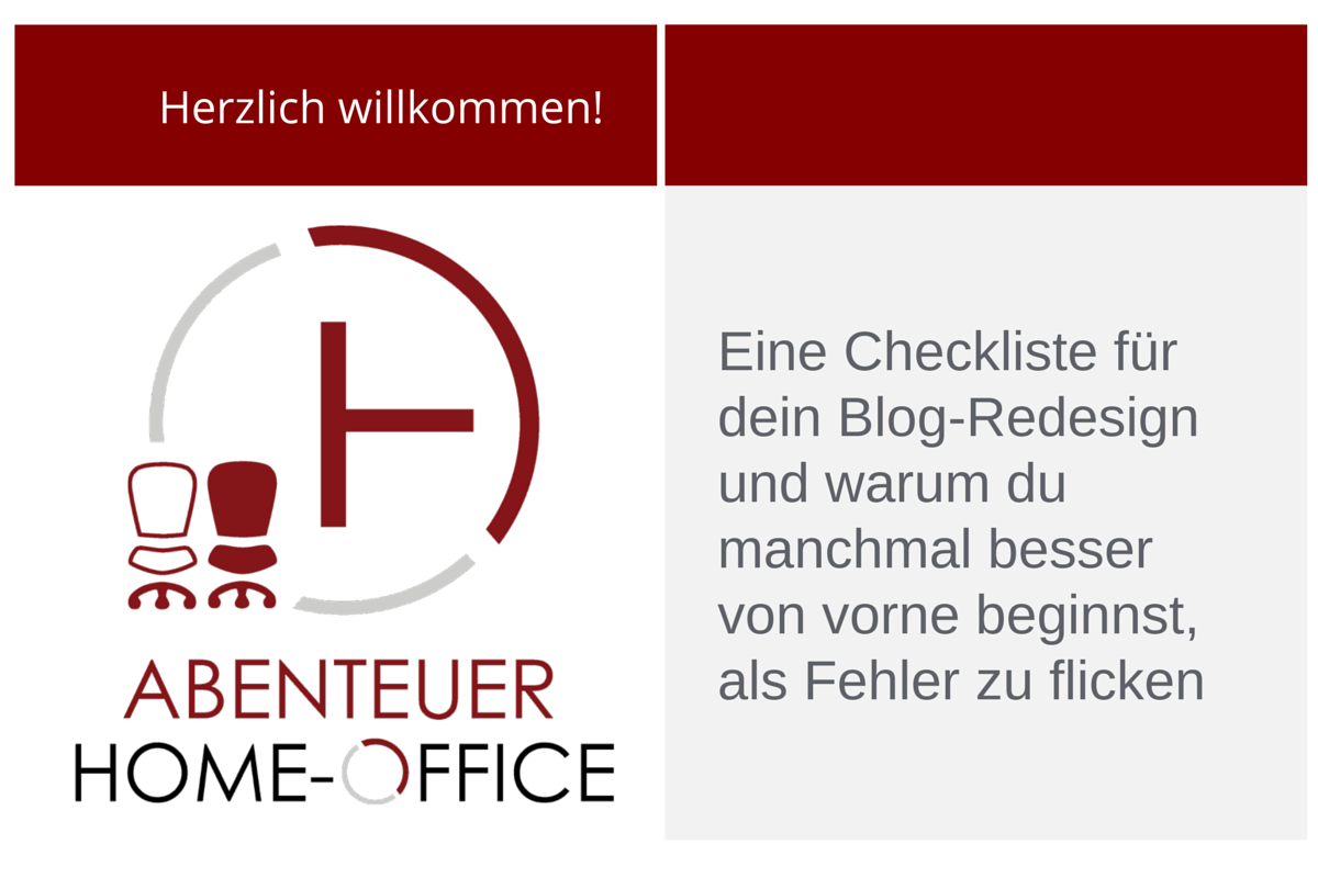 Checkliste Blog-Redesign
