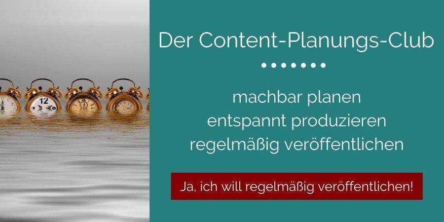 Zeitmanagement Membership - Content-Planung