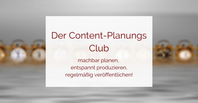 Content-Planungs-Club