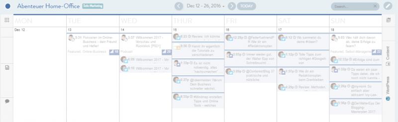 SocialMedia-Planung mit CoSchedule