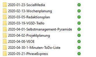Ordnung am PC durch Datum im Dateinamen