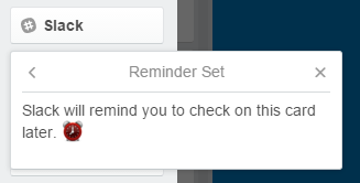 Reminder in Slack# setzen