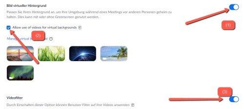 virtuellen Hintergrund in Zoom verwenden