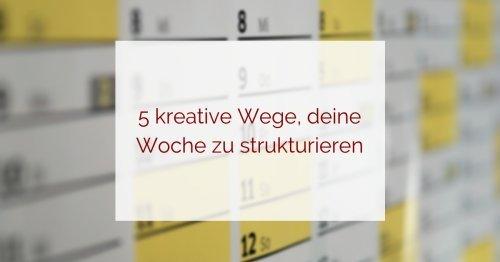 Wochenplanung